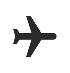 black plane icon in modern style for web site and vector image