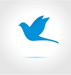 Blue bird on gray background vector