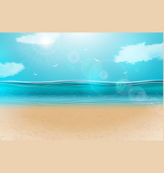 blue ocean landscape background design vector image
