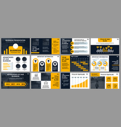 business presentation slides templates vector image