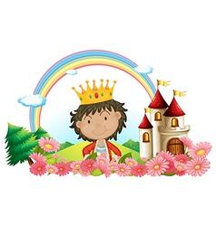Cartoon Castle King vector