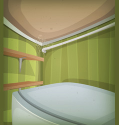 cartoon corner of room ceiling vector image