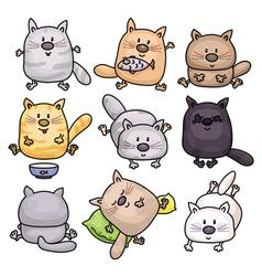 Cats cartoons vector