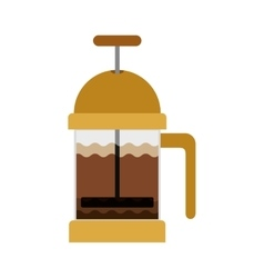 Coffee grinding jarra with crank vector