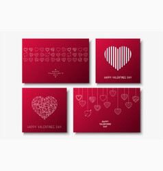 collection happy valentines day cards vector image