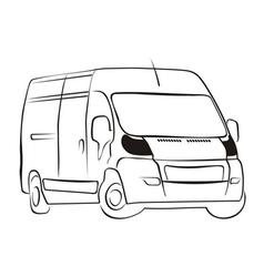 Delivery-van vector