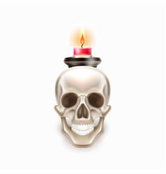 dia de los muertos day dead skull candle vector image