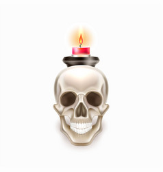 Dia de los muertos day of dead skull candle vector