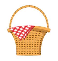empty picnic basket vector image
