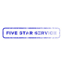Five star service rubber stamp vector