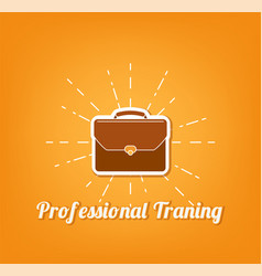 flat icon of briefcase professional training vector image