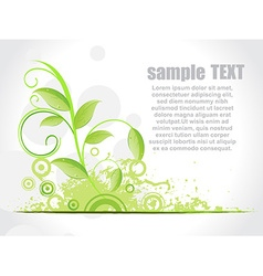 Floral green background vector image