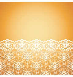 floral seamless lace pattern on yellow background vector image vector image
