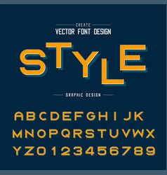 font and alphabet style bold typeface letter vector image
