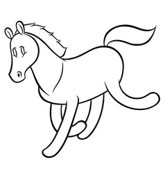 funny running horse vector image