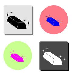 gold bar flat icon vector image