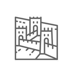 great wall china landmark line icon vector image