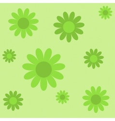 green flowers on green texture background vector image vector image
