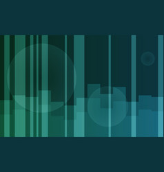 Green gradient background with pattern and circles vector