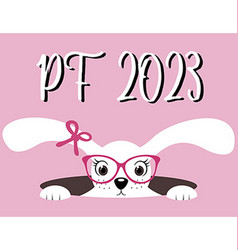 Happy New Year 2023 PF 2023 Chinese Year of the vector