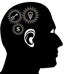 Head brain icon vector image