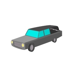 Hearse cartoon icon vector