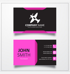 Helicopter icon business card template vector
