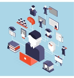 higher education isometric vector image