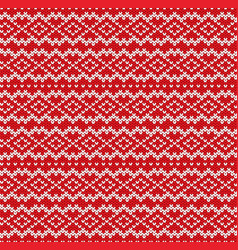 Knitted sweater geometric ornament design vector