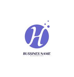 letter h logo design concept initial h logo vector image