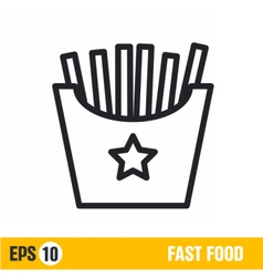 Line icon fries vector