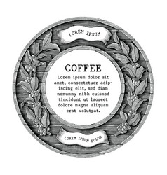 logo of coffee shop and coffee product label hand vector image