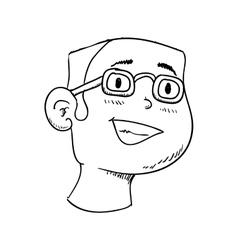 Man icon Person and cartoon graphic vector