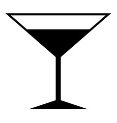 Martini glass the black color icon vector