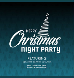 merry christmas night party background vector image
