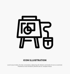 Mouse online board education line icon vector