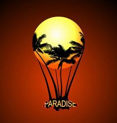 Paradise Balloon vector