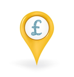 Pound Location vector image