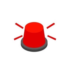Red flashing light icon isometric 3d style vector image