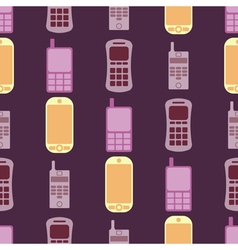 seamless background with mobile phones vector image