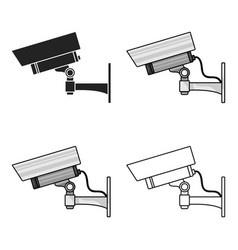 Security camera icon in cartoon style isolated on vector