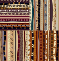 Set of patterns tribal pattern vector image vector image