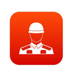 Soldier icon digital red vector