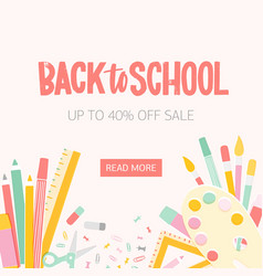 square web banner template for back to school vector image