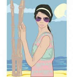Summer pretty girl vector
