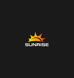 sunrise on dark background vector image