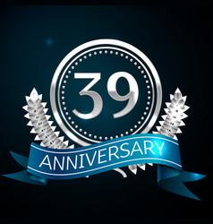 thirty nine years anniversary celebration design vector image