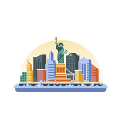 Usa icon in flat style vector