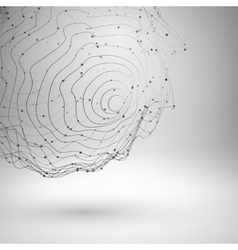 Wireframe mesh element abstract form connected vector