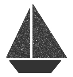 Yacht Icon Rubber Stamp vector image